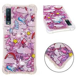 Angel Pony Dynamic Liquid Glitter Sand Quicksand Star TPU Case for Samsung Galaxy A7 (2018)