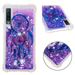 Retro Wind Chimes Dynamic Liquid Glitter Sand Quicksand Star TPU Case for Samsung Galaxy A7 (2018)