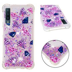 Diamond Dynamic Liquid Glitter Sand Quicksand Star TPU Case for Samsung Galaxy A7 (2018)