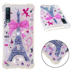 Mirror and Tower Dynamic Liquid Glitter Sand Quicksand Star TPU Case for Samsung Galaxy A7 (2018)