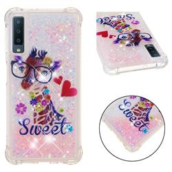 Sweet Deer Dynamic Liquid Glitter Sand Quicksand Star TPU Case for Samsung Galaxy A7 (2018)