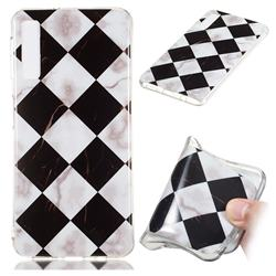 Black and White Matching Soft TPU Marble Pattern Phone Case for Samsung Galaxy A7 (2018)