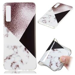 Black white Grey Soft TPU Marble Pattern Phone Case for Samsung Galaxy A7 (2018)