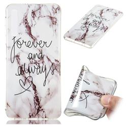 Forever Soft TPU Marble Pattern Phone Case for Samsung Galaxy A7 (2018)