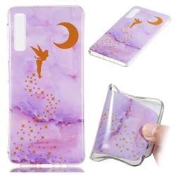 Elf Purple Soft TPU Marble Pattern Phone Case for Samsung Galaxy A7 (2018)