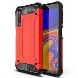 King Kong Armor Premium Shockproof Dual Layer Rugged Hard Cover for Samsung Galaxy A7 (2018) A750 - Big Red