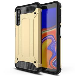King Kong Armor Premium Shockproof Dual Layer Rugged Hard Cover for Samsung Galaxy A7 (2018) A750 - Champagne Gold