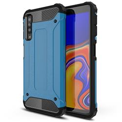 King Kong Armor Premium Shockproof Dual Layer Rugged Hard Cover for Samsung Galaxy A7 (2018) A750 - Sky Blue