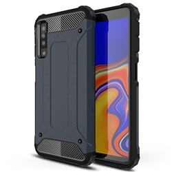 King Kong Armor Premium Shockproof Dual Layer Rugged Hard Cover for Samsung Galaxy A7 (2018) A750 - Navy