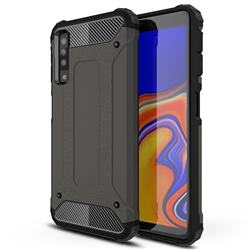 King Kong Armor Premium Shockproof Dual Layer Rugged Hard Cover for Samsung Galaxy A7 (2018) A750 - Bronze