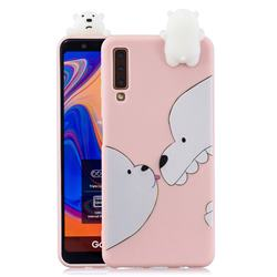 Big White Bear Soft 3D Climbing Doll Soft Case for Samsung Galaxy A7 (2018) A750