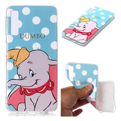 Dumbo Elephant Soft TPU Cell Phone Back Cover for Samsung Galaxy A7 (2018) A750