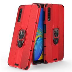 Alita Battle Angel Armor Metal Ring Grip Shockproof Dual Layer Rugged Hard Cover for Samsung Galaxy A7 (2018) A750 - Red