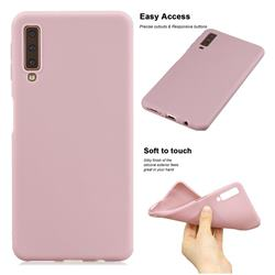 Soft Matte Silicone Phone Cover for Samsung Galaxy A7 (2018) A750 - Lotus Color