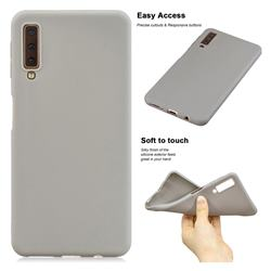 Soft Matte Silicone Phone Cover for Samsung Galaxy A7 (2018) A750 - Gray