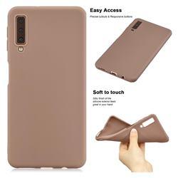 Soft Matte Silicone Phone Cover for Samsung Galaxy A7 (2018) A750 - Khaki