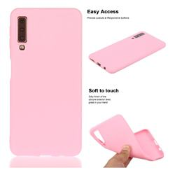 Soft Matte Silicone Phone Cover for Samsung Galaxy A7 (2018) A750 - Rose Red