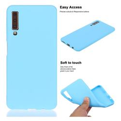 Soft Matte Silicone Phone Cover for Samsung Galaxy A7 (2018) A750 - Sky Blue