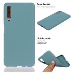 Soft Matte Silicone Phone Cover for Samsung Galaxy A7 (2018) A750 - Lake Blue