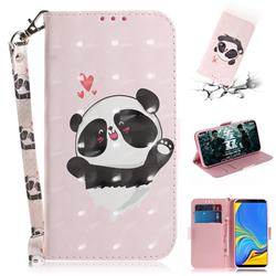 Heart Cat 3D Painted Leather Wallet Phone Case for Samsung Galaxy A7 (2018)