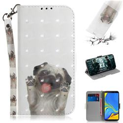 Pug Dog 3D Painted Leather Wallet Phone Case for Samsung Galaxy A7 (2018)