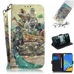 Beast Zoo 3D Painted Leather Wallet Phone Case for Samsung Galaxy A7 (2018)
