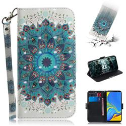 Peacock Mandala 3D Painted Leather Wallet Phone Case for Samsung Galaxy A7 (2018)