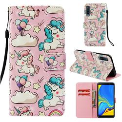 Angel Pony 3D Painted Leather Wallet Case for Samsung Galaxy A7 (2018)