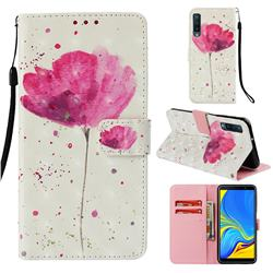 Watercolor 3D Painted Leather Wallet Case for Samsung Galaxy A7 (2018)