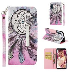 Angel Monternet Big Metal Buckle PU Leather Wallet Phone Case for Samsung Galaxy A7 (2018)