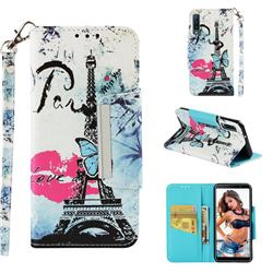 Lip Tower Big Metal Buckle PU Leather Wallet Phone Case for Samsung Galaxy A7 (2018)