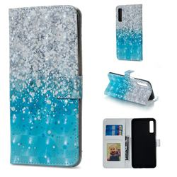 Sea Sand 3D Painted Leather Phone Wallet Case for Samsung Galaxy A7 (2018)