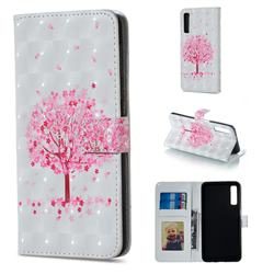 Sakura Flower Tree 3D Painted Leather Phone Wallet Case for Samsung Galaxy A7 (2018)