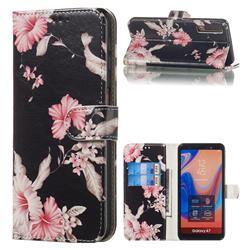 Azalea Flower PU Leather Wallet Case for Samsung Galaxy A7 (2018) A750