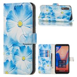 Orchid Flower PU Leather Wallet Case for Samsung Galaxy A7 (2018) A750