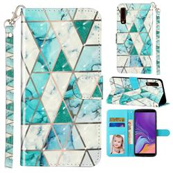 Stitching Marble 3D Leather Phone Holster Wallet Case for Samsung Galaxy A7 (2018) A750