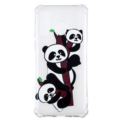 Three Pandas Anti-fall Clear Varnish Soft TPU Back Cover for Samsung Galaxy A8s