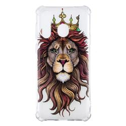 Lion King Anti-fall Clear Varnish Soft TPU Back Cover for Samsung Galaxy A8s