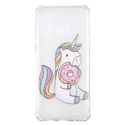 Donut Unicorn Anti-fall Clear Varnish Soft TPU Back Cover for Samsung Galaxy A8s