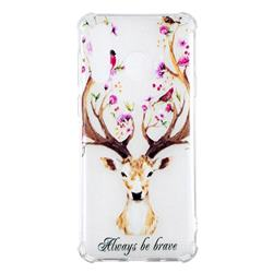 Always be Brave Anti-fall Clear Varnish Soft TPU Back Cover for Samsung Galaxy A8s