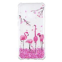 Cherry Flamingo Anti-fall Clear Varnish Soft TPU Back Cover for Samsung Galaxy A8s