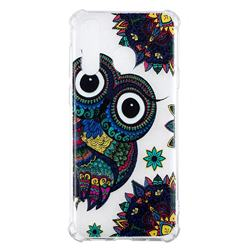 Owl Totem Anti-fall Clear Varnish Soft TPU Back Cover for Samsung Galaxy A8s