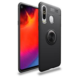 Auto Focus Invisible Ring Holder Soft Phone Case for Samsung Galaxy A8s - Black