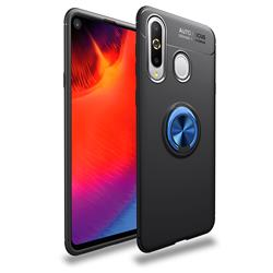 Auto Focus Invisible Ring Holder Soft Phone Case for Samsung Galaxy A8s - Black Blue