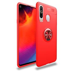Auto Focus Invisible Ring Holder Soft Phone Case for Samsung Galaxy A8s - Red