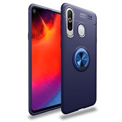 Auto Focus Invisible Ring Holder Soft Phone Case for Samsung Galaxy A8s - Blue