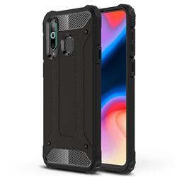 King Kong Armor Premium Shockproof Dual Layer Rugged Hard Cover for Samsung Galaxy A8s - Black Gold