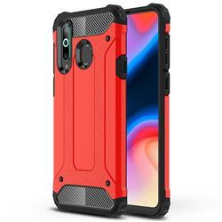 King Kong Armor Premium Shockproof Dual Layer Rugged Hard Cover for Samsung Galaxy A8s - Big Red