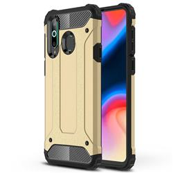 King Kong Armor Premium Shockproof Dual Layer Rugged Hard Cover for Samsung Galaxy A8s - Champagne Gold