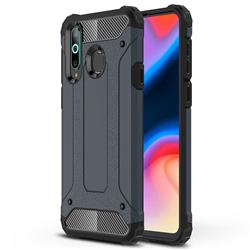 King Kong Armor Premium Shockproof Dual Layer Rugged Hard Cover for Samsung Galaxy A8s - Navy